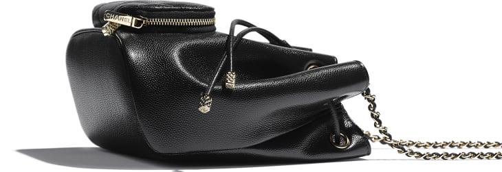 image 4 - Bucket Bag - Grained Calfskin & Gold-Tone Metal - Black