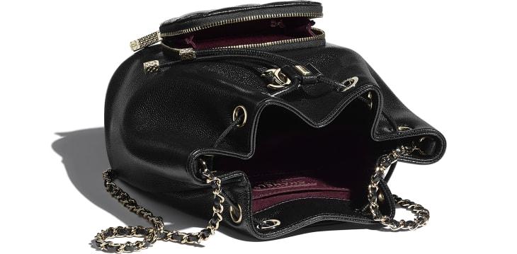 image 3 - Bucket Bag - Grained Calfskin & Gold-Tone Metal - Black