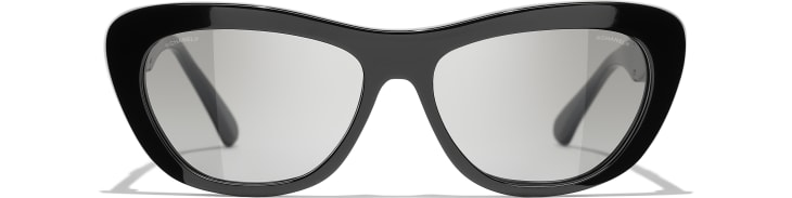 image 2 - Butterfly Sunglasses - Acetate - Black