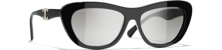 image 1 - Butterfly Sunglasses - Acetate - Black