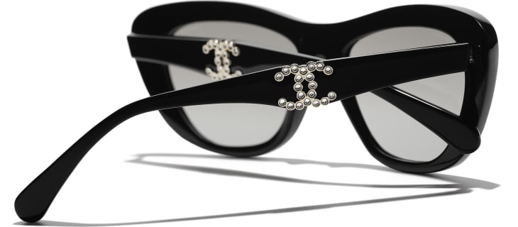 image 4 - Butterfly Sunglasses - Acetate - Black