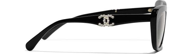 image 3 - Butterfly Sunglasses - Acetate - Black