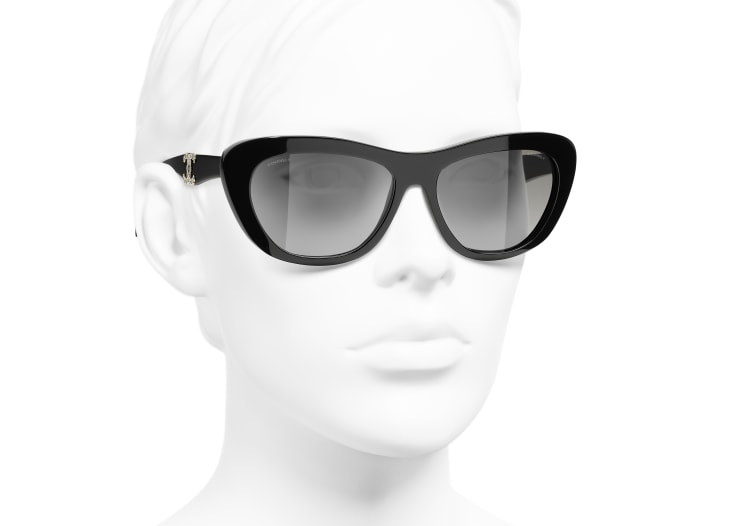 image 6 - Butterfly Sunglasses - Acetate - Black