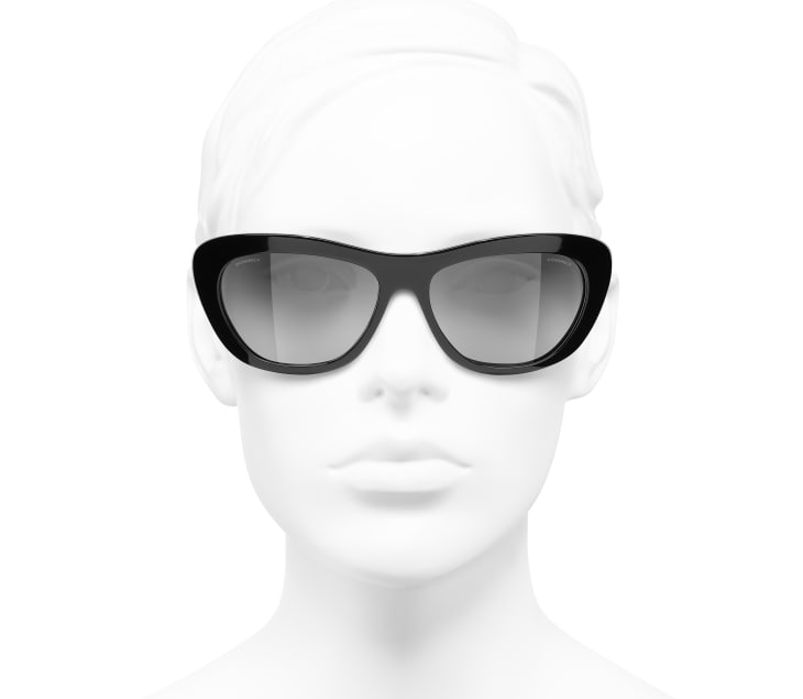 image 5 - Butterfly Sunglasses - Acetate - Black