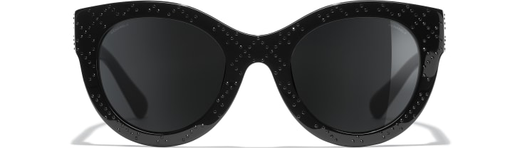 image 2 - Butterfly Sunglasses - Acetate & Strass - Black