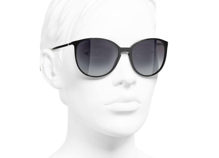 image 6 - Butterfly Sunglasses - Acetate - Black & Beige