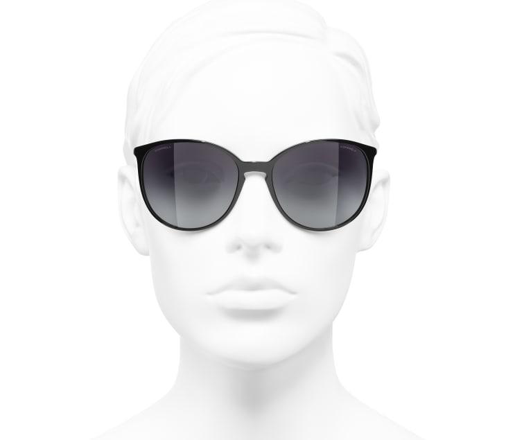 image 5 - Butterfly Sunglasses - Acetate - Black & Beige