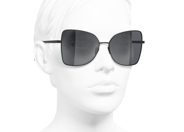 image 6 - Butterfly Sunglasses - Titanium - Black