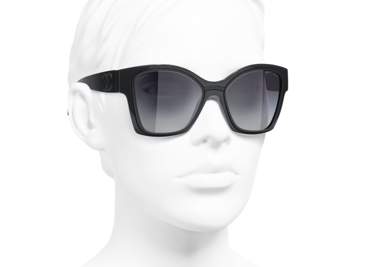 image 6 - Butterfly Sunglasses - Nylon & Metal - Dark Gray