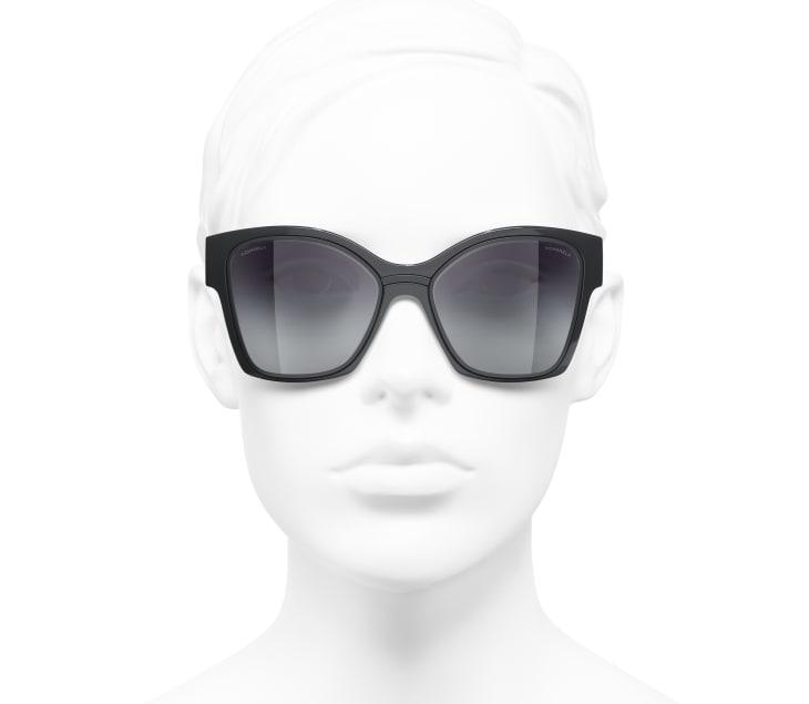 image 5 - Butterfly Sunglasses - Nylon & Metal - Dark Gray
