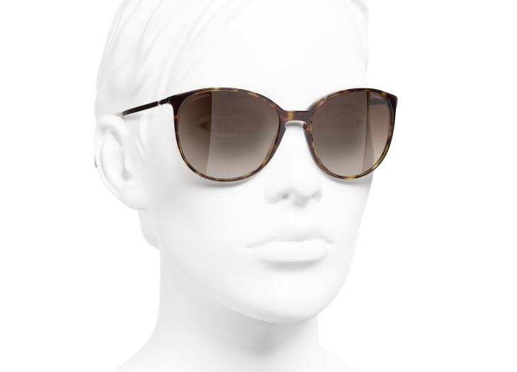 image 6 - Butterfly Sunglasses - Acetate - Dark Tortoise & Beige