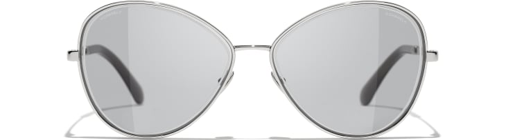 image 2 - Butterfly Sunglasses - Metal - Silver