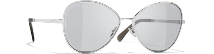 image 1 - Butterfly Sunglasses - Metal - Silver