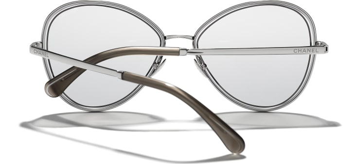 image 4 - Butterfly Sunglasses - Metal - Silver