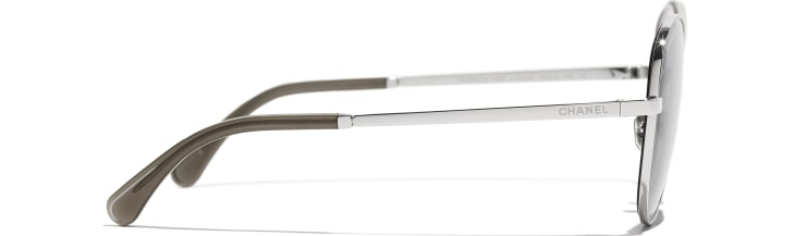 image 3 - Butterfly Sunglasses - Metal - Silver