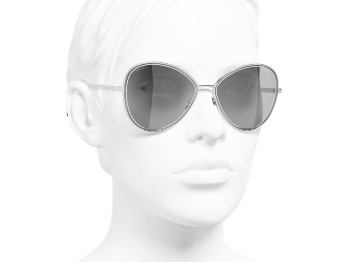 image 6 - Butterfly Sunglasses - Metal - Silver