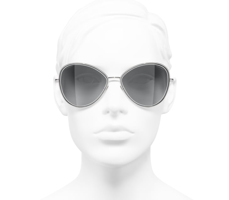 image 5 - Butterfly Sunglasses - Metal - Silver