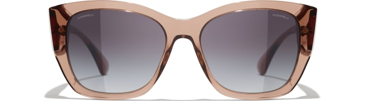 image 2 - Butterfly Sunglasses - Acetate - Transparent Brown