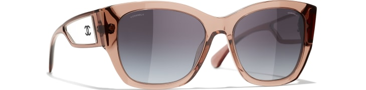 image 1 - Butterfly Sunglasses - Acetate - Transparent Brown