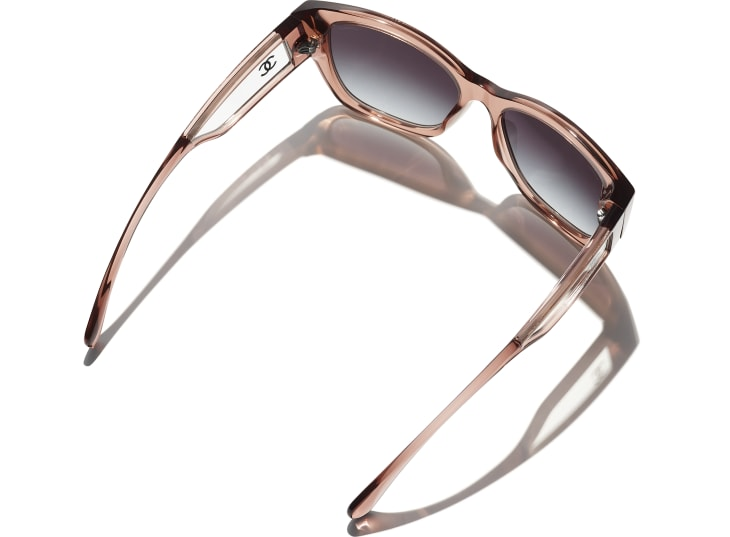 image 4 - Butterfly Sunglasses - Acetate - Transparent Brown