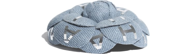 image 2 - Camélia - Coton - Bleu