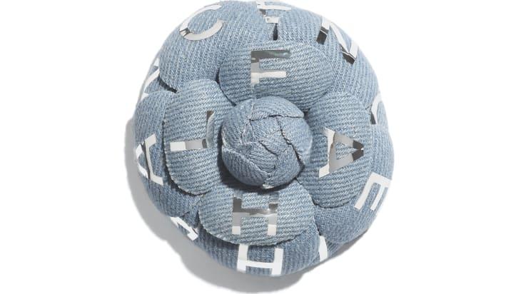 image 1 - Camélia - Coton - Bleu