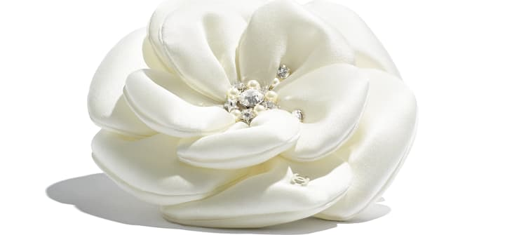image 2 - Camellia - Satin, Glass Pearls & Strass - Ivory