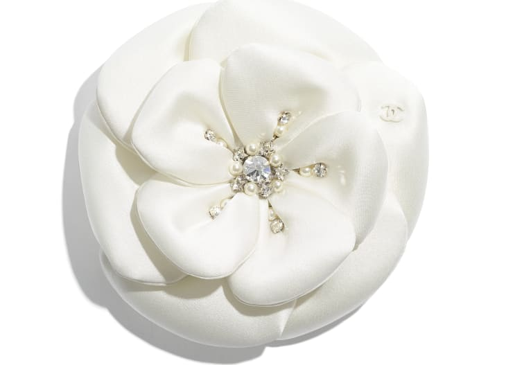 image 1 - Camellia - Satin, Glass Pearls & Strass - Ivory