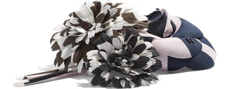 image 2 - Camellia - Cotton - Pale Pink, Navy Blue & Black