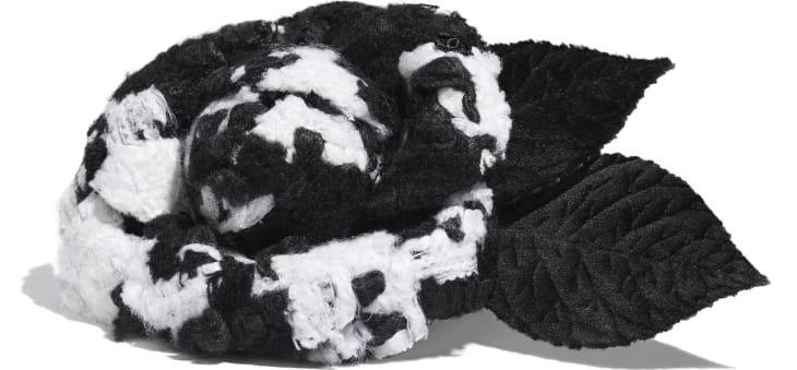 image 2 - Camellia - Tweed & Velvet - White & Black