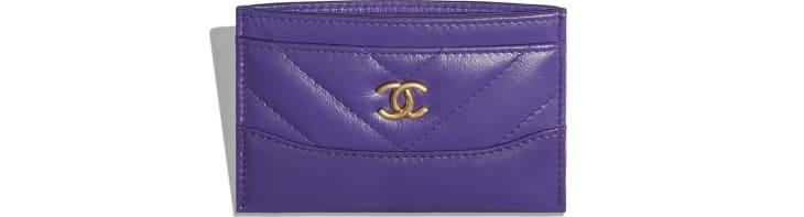 image 3 - Porte-cartes - Veau vieilli, veau lisse, métal doré, argenté & finition ruthénium - Violet