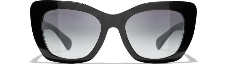 image 2 - Cat Eye Sunglasses - Acetate - Black