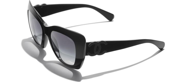 image 4 - Cat Eye Sunglasses - Acetate - Black
