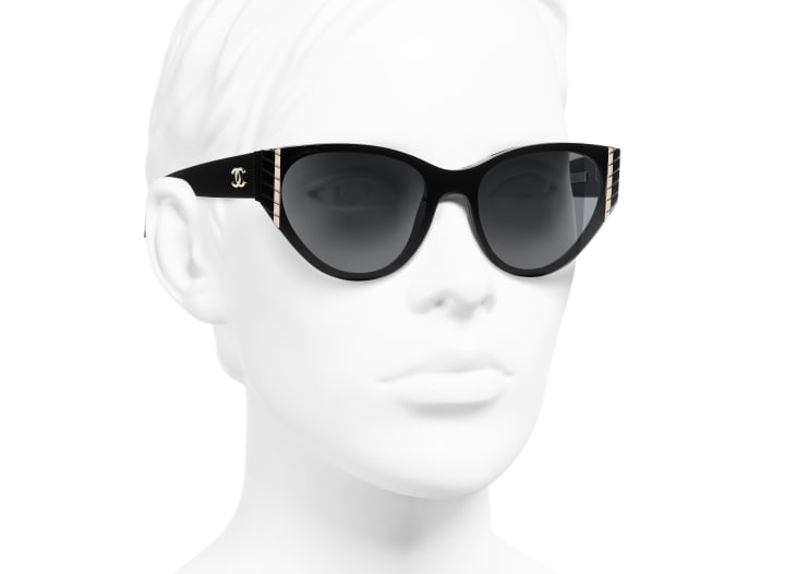image 6 - Cat Eye Sunglasses - Acetate - Black