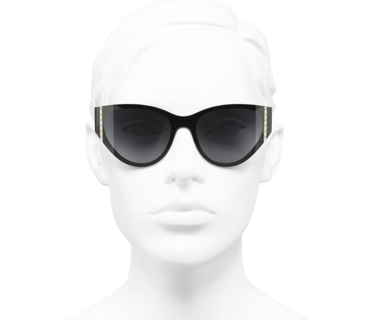 image 5 - Cat Eye Sunglasses - Acetate - Black