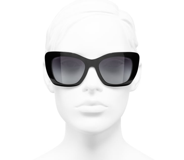 image 5 - Cat Eye Sunglasses - Acetate - Black