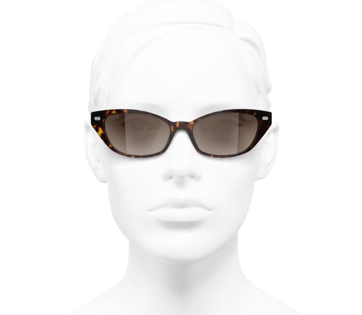 image 5 - Cat Eye Sunglasses - Acetate & Lambskin - Dark Tortoise