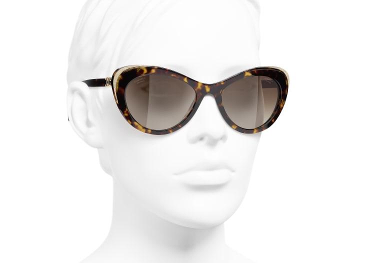 image 6 - Cat Eye Sunglasses - Acetate & Metal - Dark Tortoise & Gold