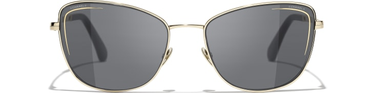 image 2 - Cat Eye Sunglasses - Metal - Gold