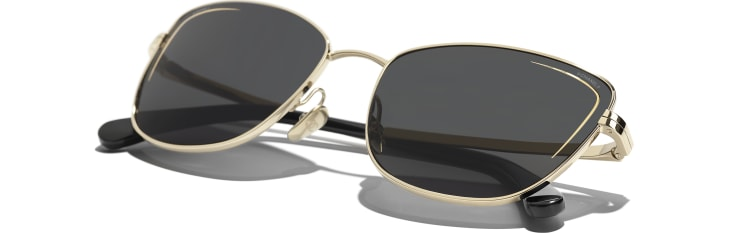 image 4 - Cat Eye Sunglasses - Metal - Gold