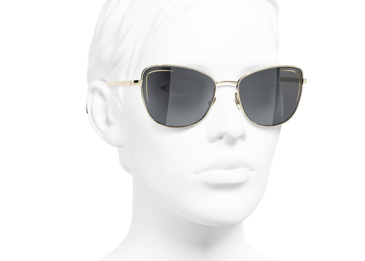 image 6 - Cat Eye Sunglasses - Metal - Gold