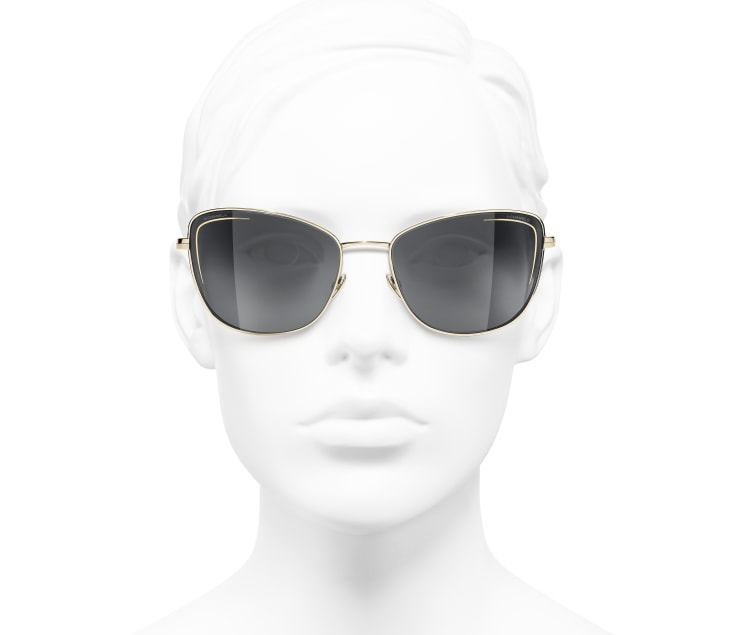 image 5 - Cat Eye Sunglasses - Metal - Gold