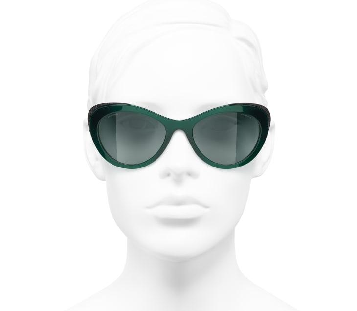 image 5 - Cat Eye Sunglasses - Acetate & Metal - Green