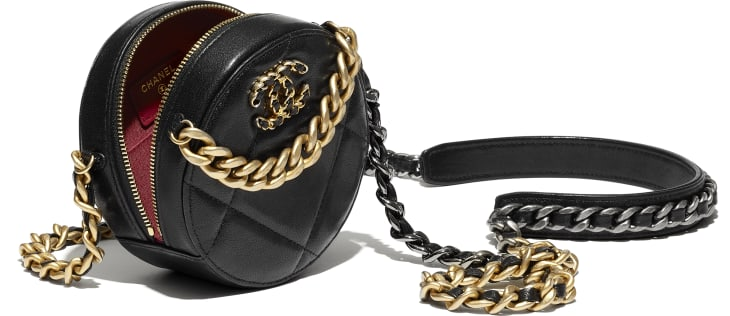 image 3 - CHANEL 19 Clutch with Chain  - Lambskin, Gold-Tone, Silver-Tone & Ruthenium-Finish Metal - Black