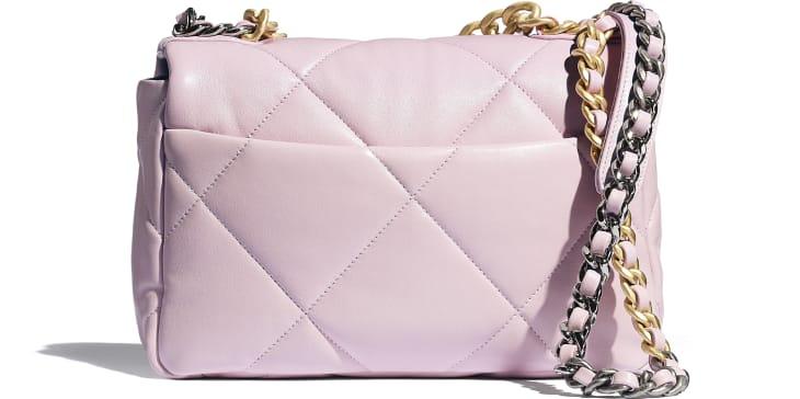 image 2 - CHANEL 19 Flap Bag - Lambskin, Gold-Tone, Silver-Tone & Ruthenium-Finish Metal - Light Pink
