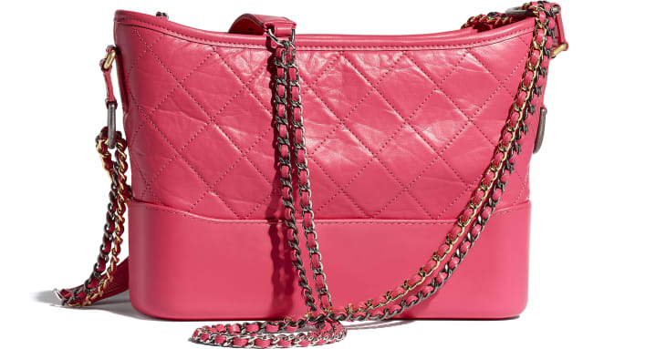 image 2 - CHANEL'S GABRIELLE Hobo Bag - Aged Calfskin, Smooth Calfskin, Gold-Tone, Silver-Tone & Ruthenium-Finish Metal - Pink