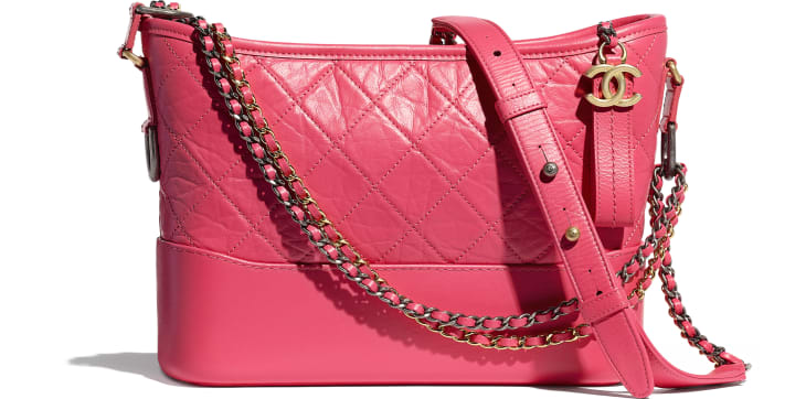 image 1 - CHANEL'S GABRIELLE Hobo Bag - Aged Calfskin, Smooth Calfskin, Gold-Tone, Silver-Tone & Ruthenium-Finish Metal - Pink
