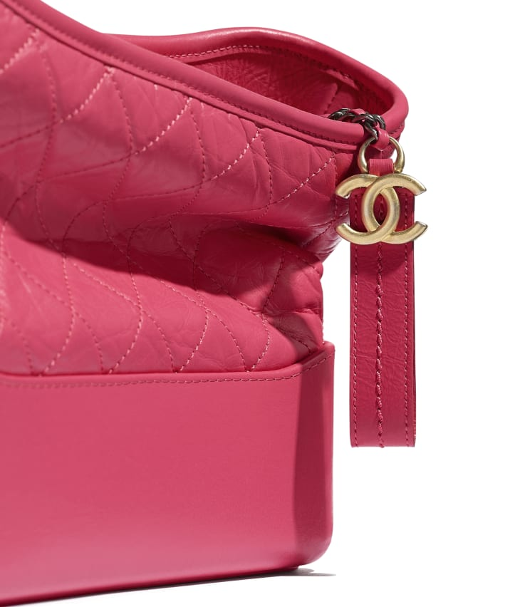 image 4 - CHANEL'S GABRIELLE Hobo Bag - Aged Calfskin, Smooth Calfskin, Gold-Tone, Silver-Tone & Ruthenium-Finish Metal - Pink
