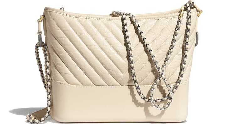 image 2 - CHANEL'S GABRIELLE  Large Hobo Bag - Aged Calfskin, Smooth Calfskin, Gold-Tone, Silver-Tone & Ruthenium-Finish Metal - Light Beige