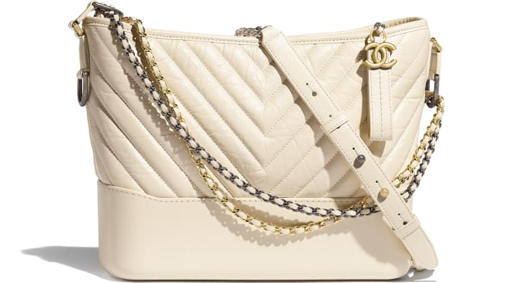 image 1 - CHANEL'S GABRIELLE  Large Hobo Bag - Aged Calfskin, Smooth Calfskin, Gold-Tone, Silver-Tone & Ruthenium-Finish Metal - Light Beige
